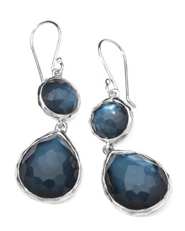 Ippolita Sterling Silver Wonderland Mini Teardrop Snowman Earrings in Indigo