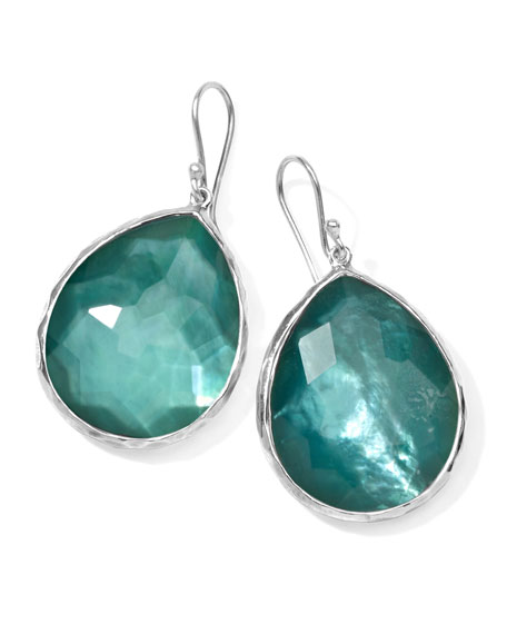 Sterling Silver Wonderland Teardrop Earrings in Denim