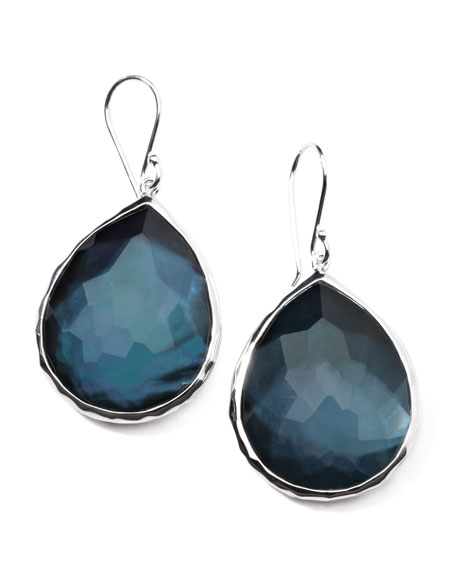 Sterling Silver Wonderland Teardrop Earrings in Indigo