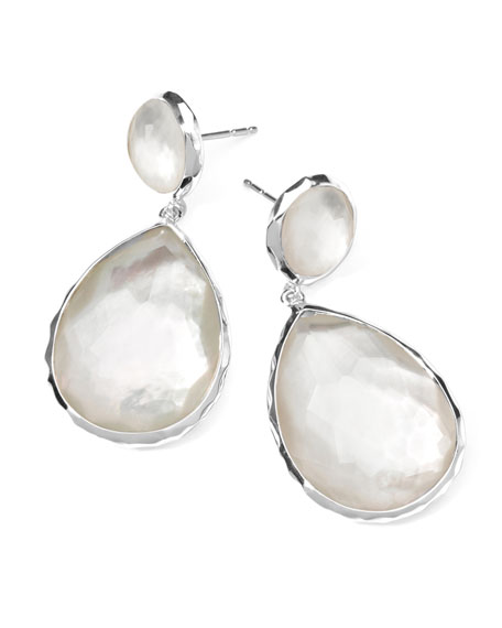 Sterling Silver Wonderland Teardrop Snowman Post Earrings in Doublet