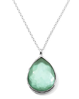 Ippolita Wonderland Silver Large Teardrop Pendant Necklace, Mint