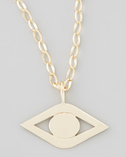 Sydney Evan Gold Evil Eye Pendant Necklace