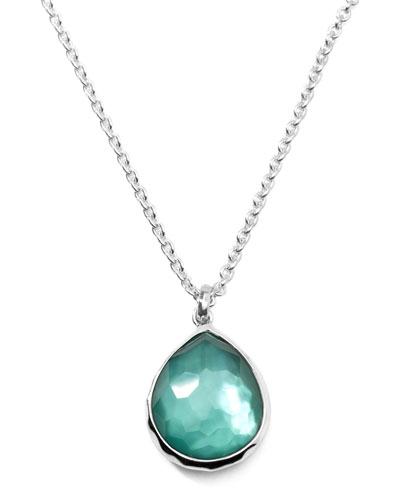 Ippolita Wonderland Silver Mini Teardrop Necklace in Denim