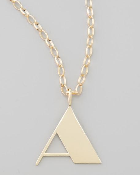 Letter Charm Necklace, A