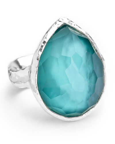 Sterling Silver Wonderland Teardrop Ring in Denim