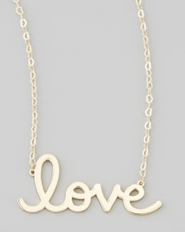 Sydney Evan Gold Love Pendant Necklace