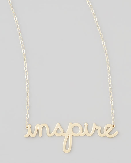Gold Inspire Pendant Necklace