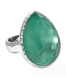 Ippolita Sterling Silver Wonderland Teardrop Ring in Mint