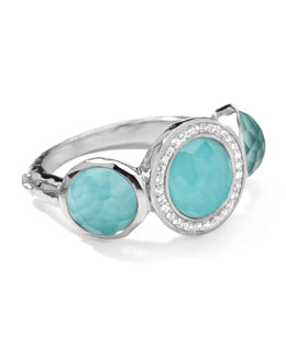 Ippolita Stella Ring in Turquoise & Diamonds, 0.12
