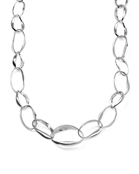 Sterling Silver Venezia Links Multi-Shape Necklace 18""