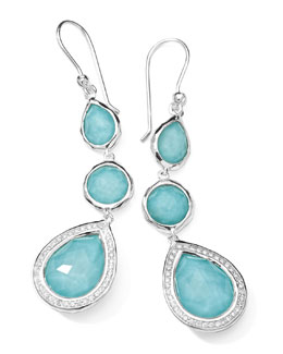 Ippolita Stella 3-Drop Earrings in Turquoise & Diamonds