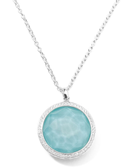 Ippolita Stella Large Lollipop Necklace in Turquoise & Diamonds 16-18