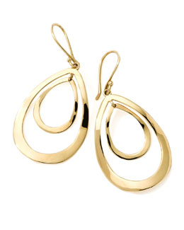 Ippolita 18K Gold Open Double Teardrop Earrings