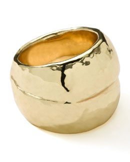 Ippolita 18K Gold Glamazon Hammered Ring