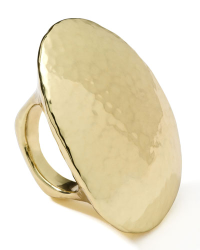 Ippolita 18K Gold Glamazon Hammered Long Ring