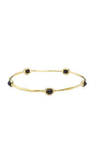 Ippolita 18K Gold Rock Candy 5-Stone Lollipop Bangle in Black Onyx
