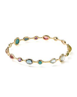 Ippolita 18k Gold Rock Candy Open Gelato Bangle, Multi