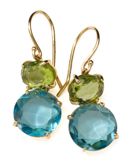 Ippolita 18k Gold Rock Candy Gelato Snowman Earrings