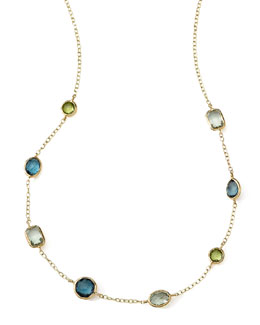 Ippolita 18k Gold Rock Candy Mini Gelato Station Necklace in Tartan, 16-18""