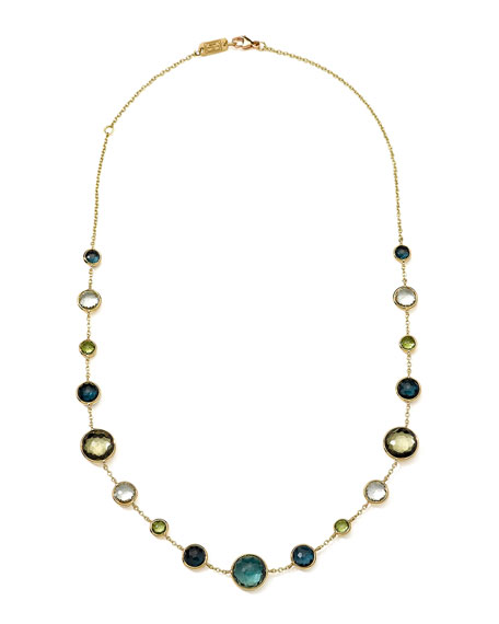 18k Gold Rock Candy Lollitini Necklace in Tartan, 16-18""