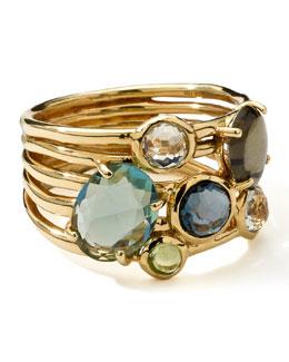 Ippolita 18k Gold Rock Candy Gelato 6-Stone Cluster Ring, Tartan