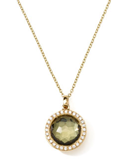 Ippolita 18K Gold Rock Candy Mini Lollipop Necklace in Pyrite & Diamonds