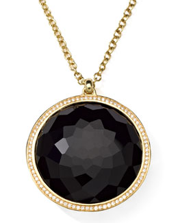 Ippolita 18K Gold Rock Candy Large Lollipop Necklace in Onyx & Diamonds