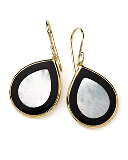 Ippolita 18K Gold Polished Rock Candy Mini Teardrop Earrings in Jazz