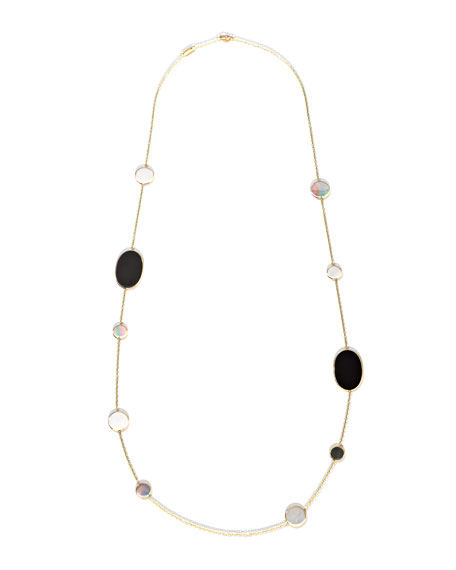 Polished Rock Candy Multi-Stone Station Necklace in Jazz, 37""