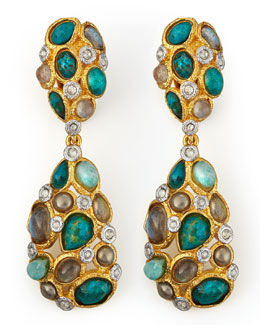 Alexis Bittar Kiwi Cluster Clip Earrings