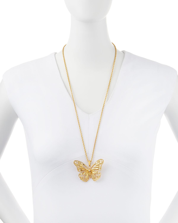 08dc4bb12 Alexander McQueen Butterfly Pendant Necklace   Neiman Marcus