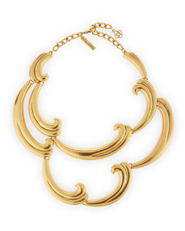 Oscar de la Renta Bold Golden Swirl Necklace