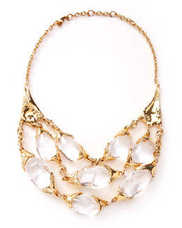 Alexis Bittar Large 3-Strand Texture Necklace