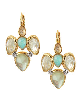 Alexis Bittar Pear Crystal-Cluster Earrings
