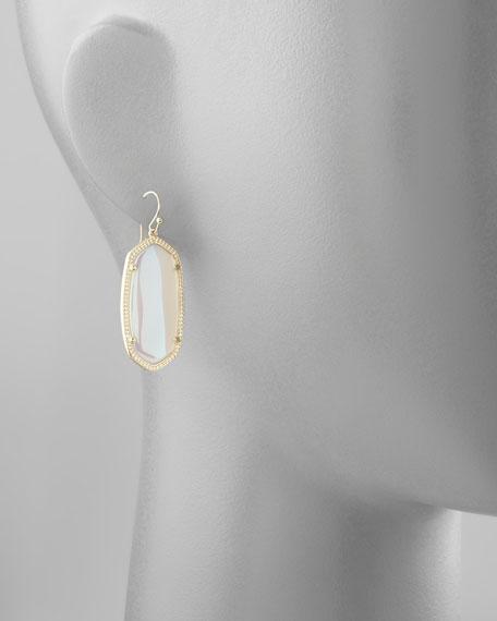 Elle Earrings, Abalone Shell