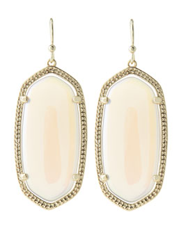 Kendra Scott Elle Earrings, Abalone Shell