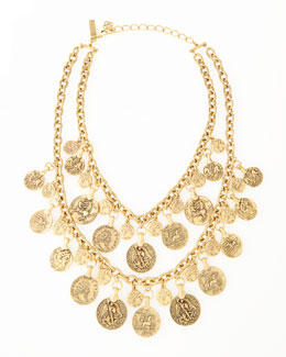Oscar de la Renta Two-Strand Coin Necklace
