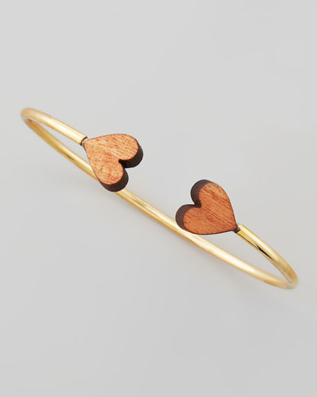 Nature's Heart Cuff, Yellow Gold