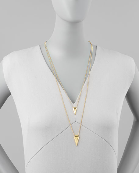 Shark Double-Drop Long Necklace