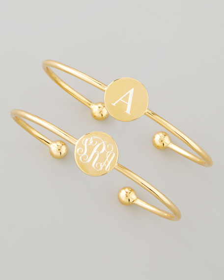 18k Yellow Gold Vermeil Ella Engravable Disc Bracelet