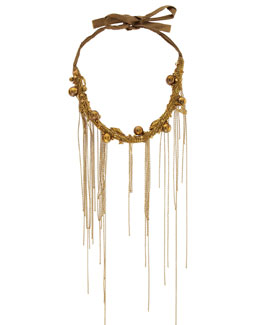 Donna Karan Chain-Fringe Collar Necklace