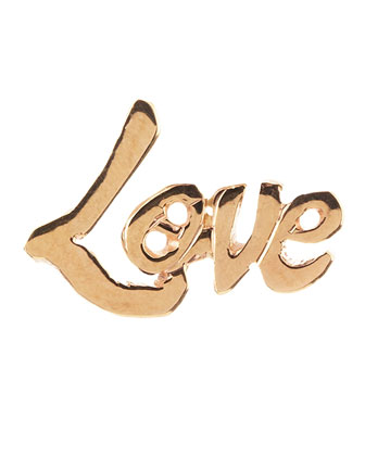 Mini 14k Love Stud Single Earring