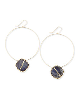Lana Mesmerize Frontal Hoop Earrings, Gold