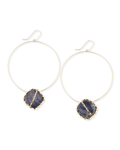 Lana Mesmerize Frontal Hoop Earrings, Gold