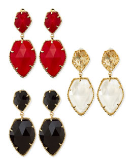 Kendra Scott Selma Faceted Clip-On Earrings
