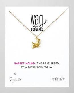 Dogeared 14k Vermeil Basset Hound Dog Necklace