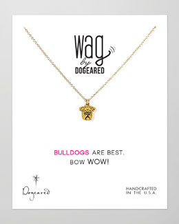 Dogeared 14k Vermeil Bulldog Necklace
