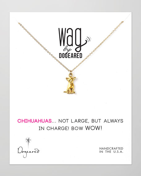 Dogeared 14k Vermeil Chihuahua Dog Necklace