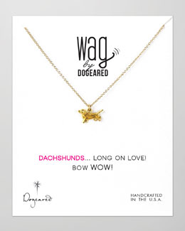 Dogeared 14k Vermeil Dachshund Dog Necklace