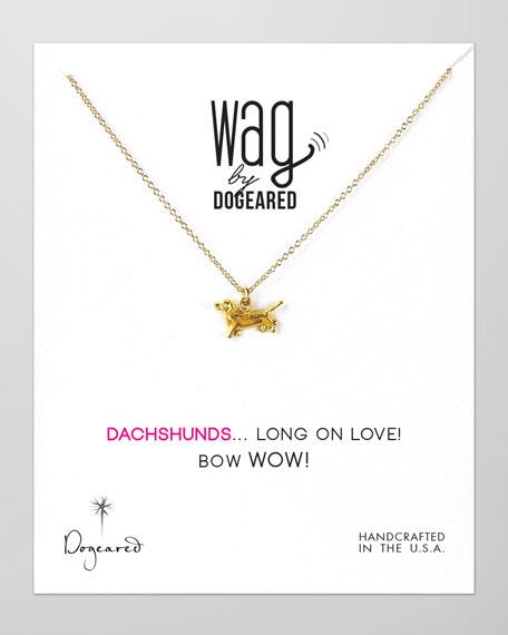 14k Vermeil Dachshund Dog Necklace